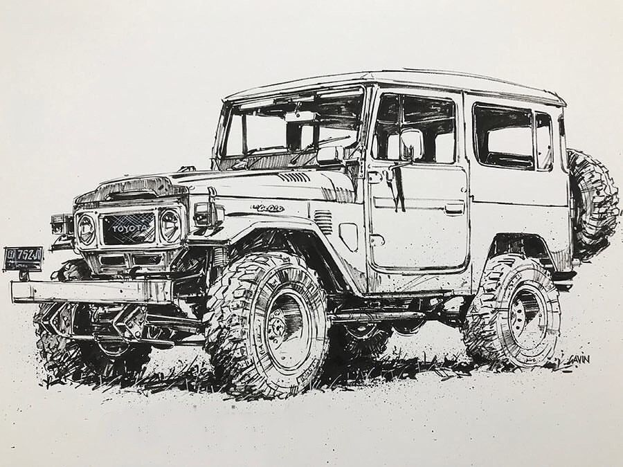 FJ40-Drawing