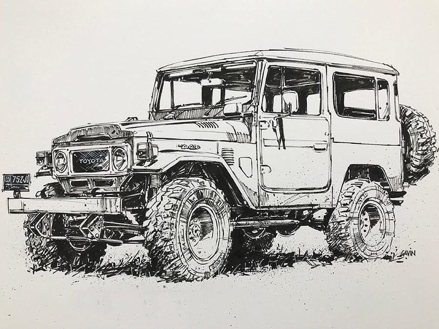 FJ40-Drawing