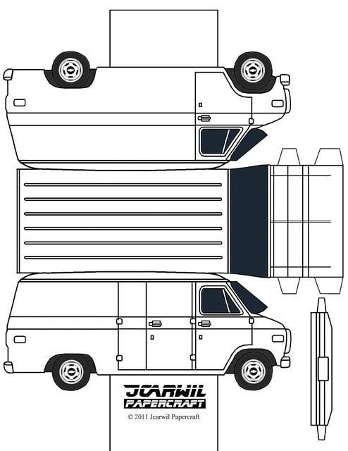 Fold-up-paper-van