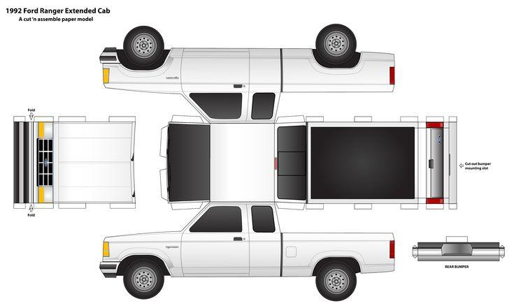 Foldable-paper-ford-ranger